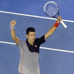 Novak Djokovic, pictured, will face Fabio Fognini in the next round (AP)