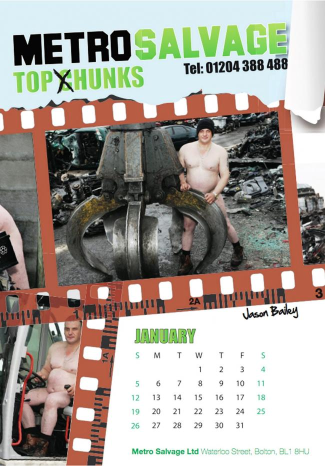 The Metro Salvage naked calendar
