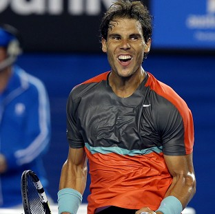 Rafael Nadal won in straight sets (AP)