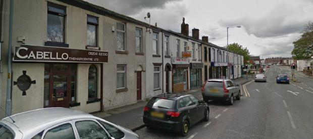 Cabello for Hair in Wigan Road, Deane, which was robbed by knife-wielding thugs today. Picture from Google Maps.