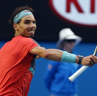 Rafael Nadal, pictured, advanced to the Australian Open quarter-finals by b
