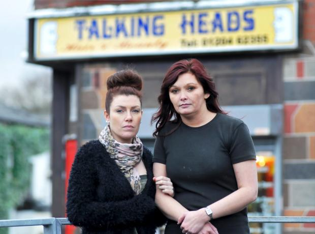The Bolton News: Emma Crook, left, and Shelley Whelan of the Talking Heads salon
