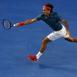 Roger Federer, pictured, will face Andy Murray in the last eight after Monday's impressive win (AP)