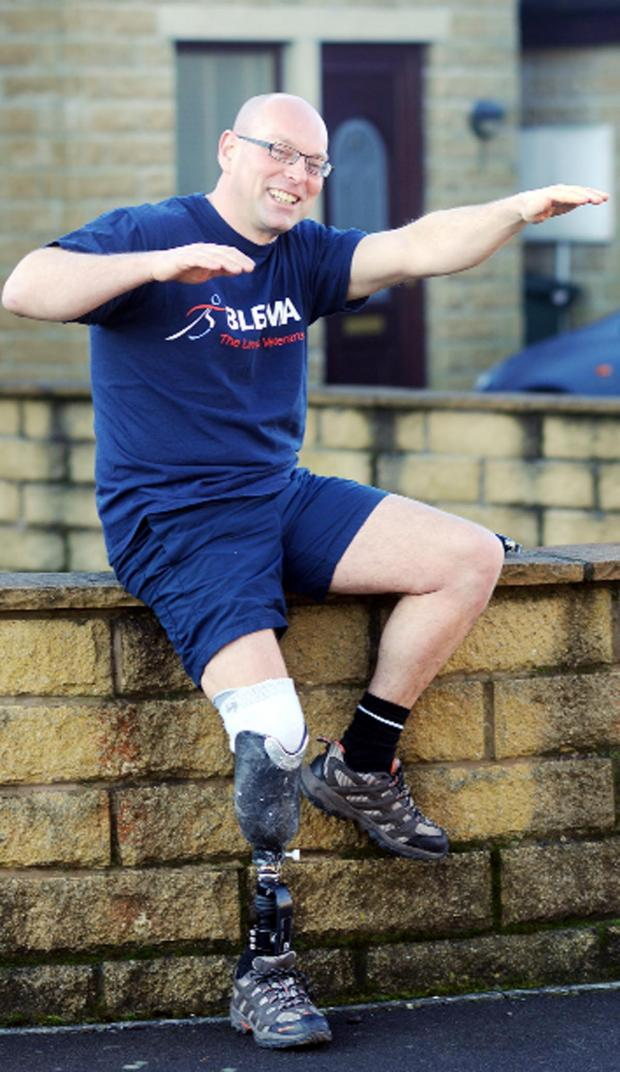The Bolton News: Craig Howorth will swim with three other amputees.