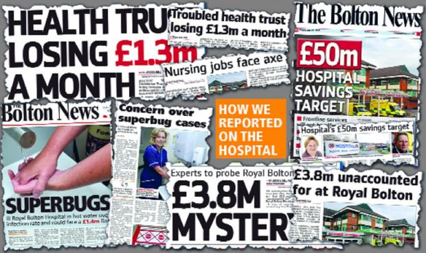 The Bolton News: How we reported the Royal Bolton Hospital last year.