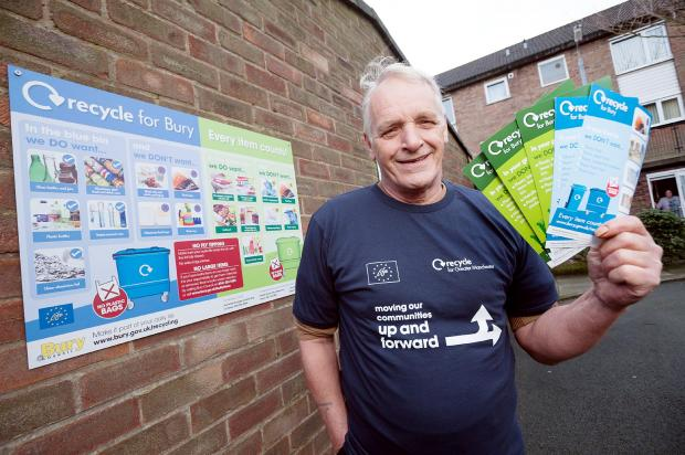 RECYCLING AMBASSADOR: Norman Tooth, aged 62 and from Radcliffe