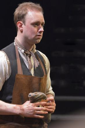 Michael Shelford plays Wilie Mossop in Hobson's Choice at The Bolton Octagon, picture by Ian Tilton