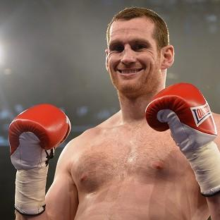 David Price celebrates his comeback win in Stuttgart (AP)