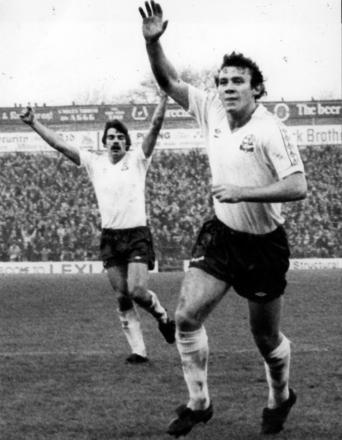 SIX HITTERS Peter Reid, right, and Sam Allardyce in the 1977 goal fest