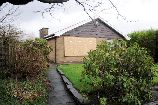 The Bolton News: The burgled bungalow in Foster Lane, Breightmet