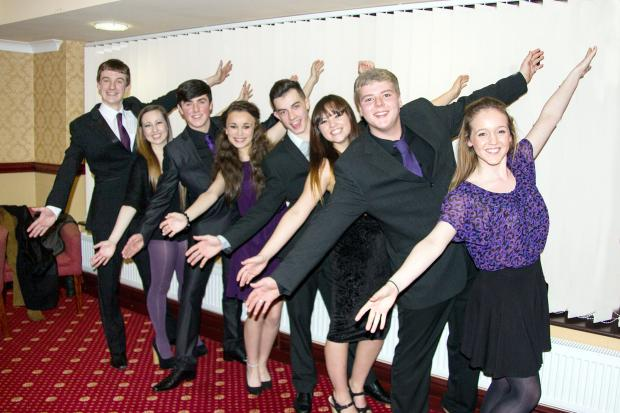 From left, Sam Cain, Katie Ball, Ben Whitehead, Em Cohen, Danny Law, Georgina Leckey, Kieran Slater and Rebecca Bolton