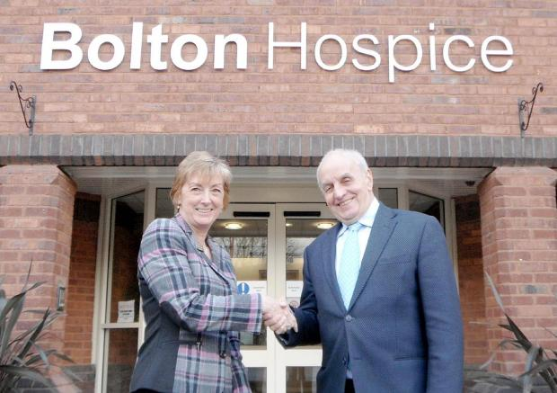 The Bolton News: Judith Bromley and the outgoing chairman Graham Ya