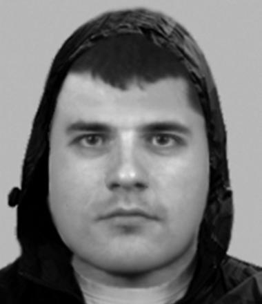 An e-fit of one of the robbers