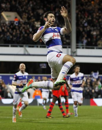Charlie Austin who scored QPR's first goal against Wanderers