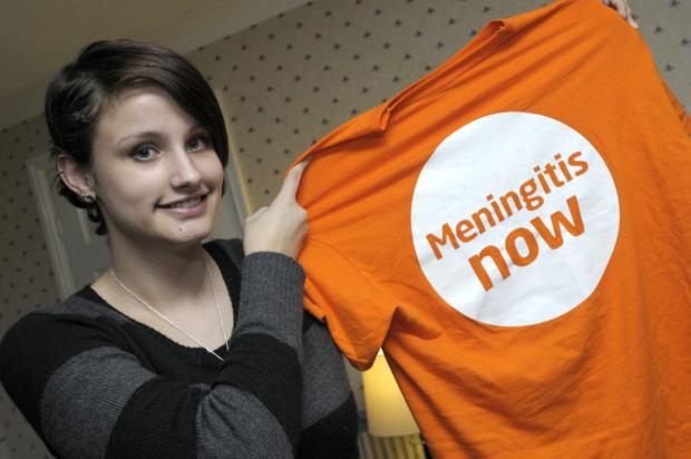 Rosie Heaton is campaigning for Meningitis Now
