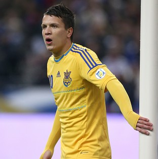 Yevhen Konoplyanka played for Ukraine at Euro 2012