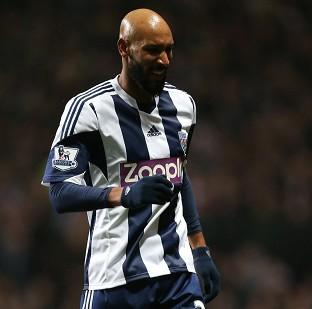 Nicolas Anelka was forced off early in West Brom's 4-3 loss at Aston Villa