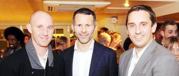 The Bolton News: Nicky Butt, Ryan Giggs and Gary Neville