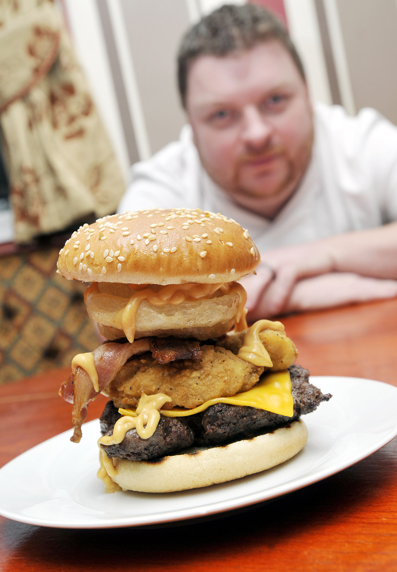 The 900 calorie burger and 'A-pork-alypse Cow': Darcy Lever pub launches Man vs Food-style menu