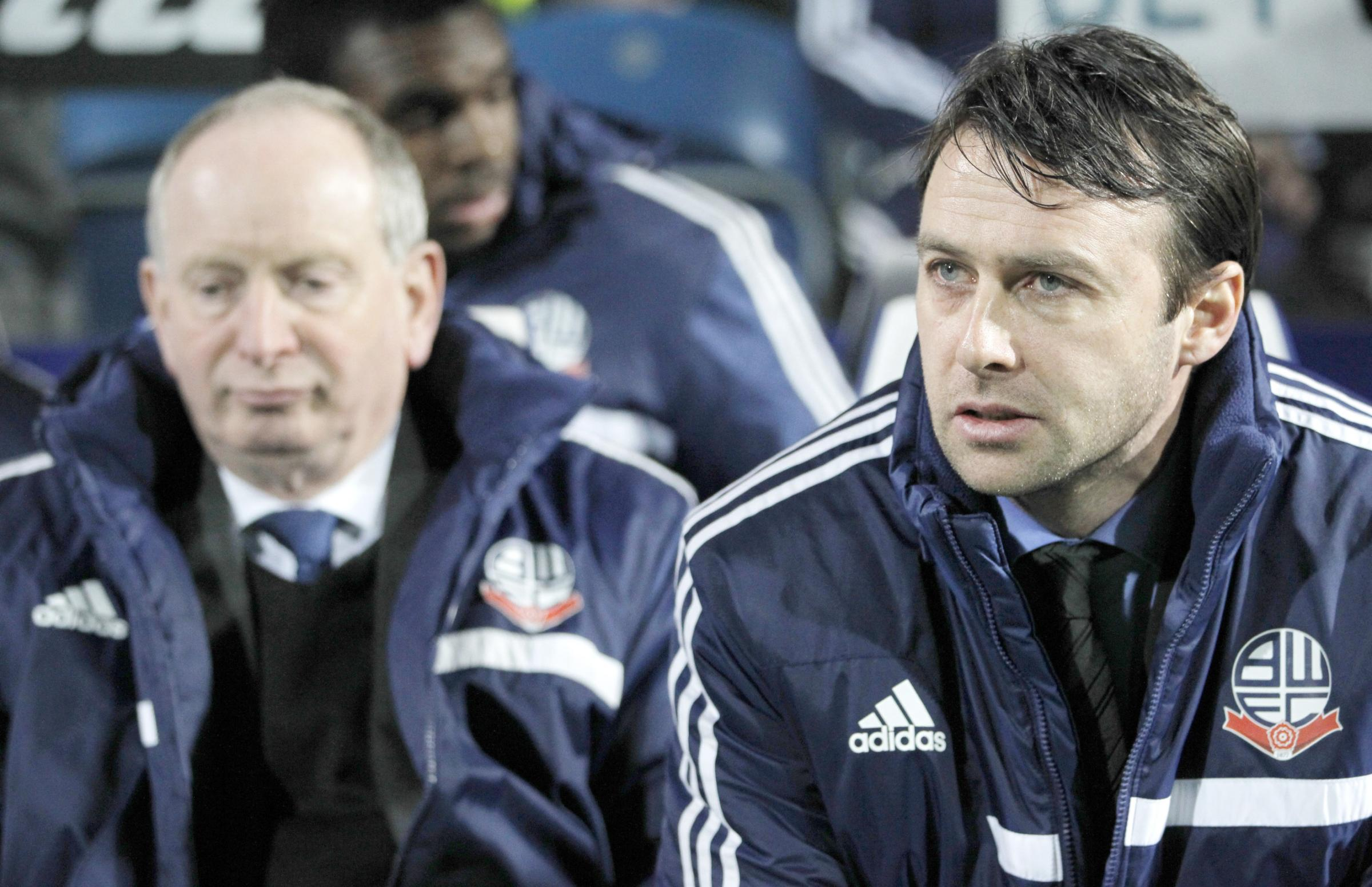 FAITH Dougie Freedman, right, and his assistant Lenny Lawrence watching on from the sidelines at QPR