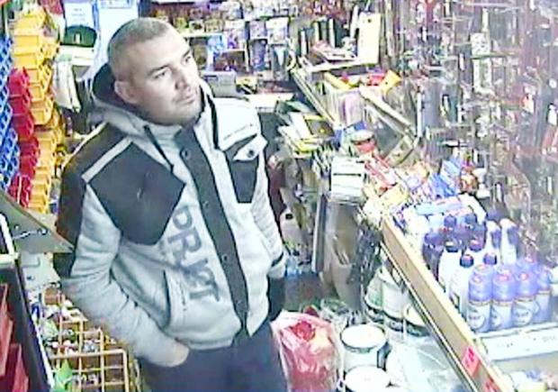 Police would like to speak to this man whose image was captured on CCTV at Village DIY in Church Street, Little Lever