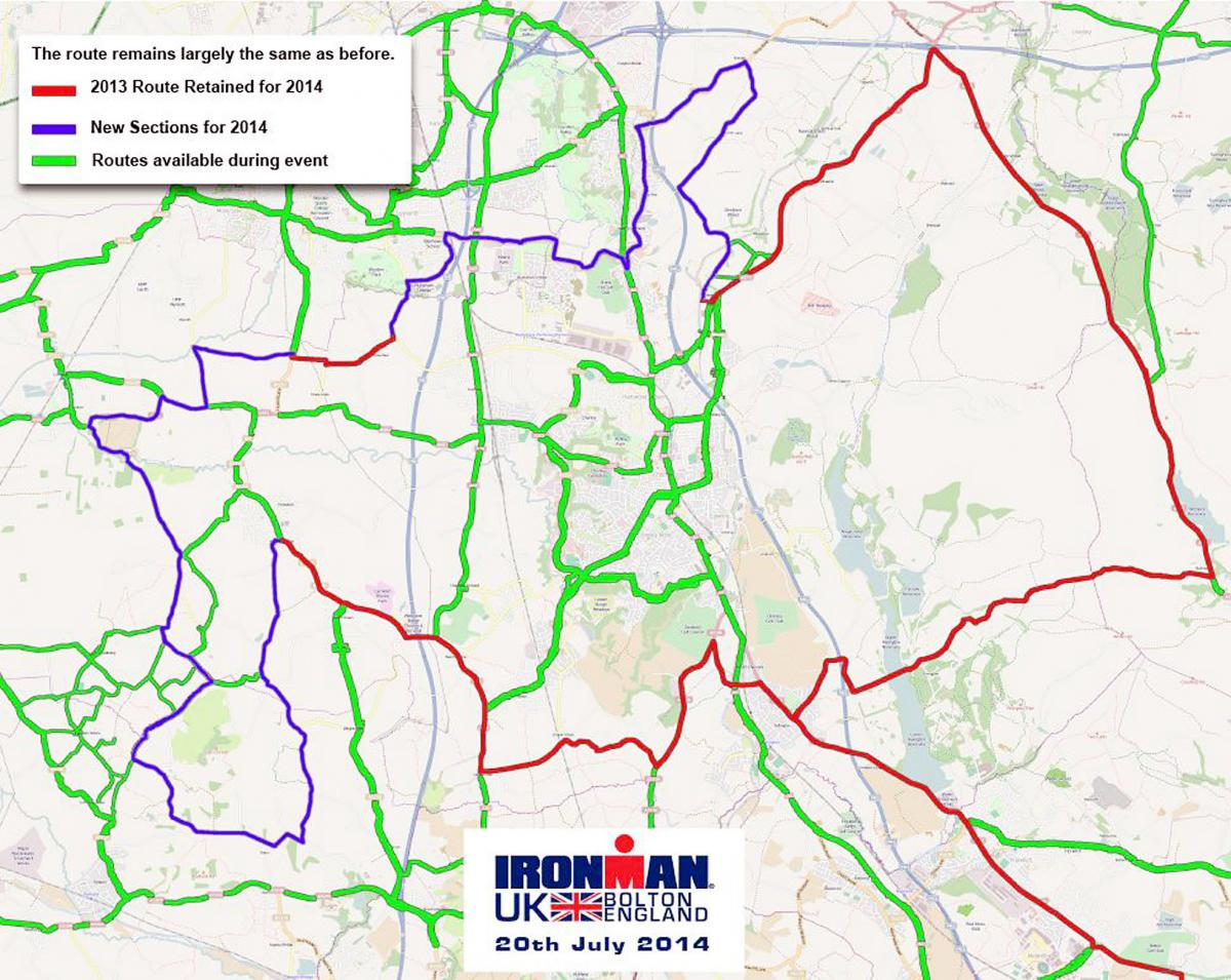 New Bike Route For This Year S Ironman The Bolton News