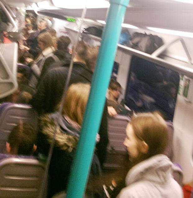The Bolton News: A scene from a crowded commuter train