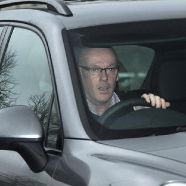 The Bolton News: Brian McDermott arrives at Leeds United's training ground on Monday morning