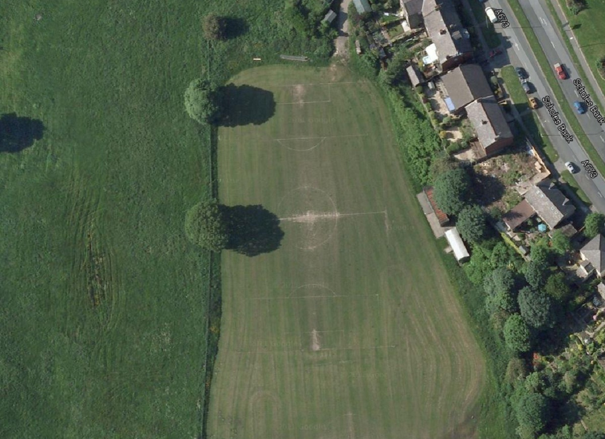 Scholes Bank playing field in Horwich. Picture from Google Maps.