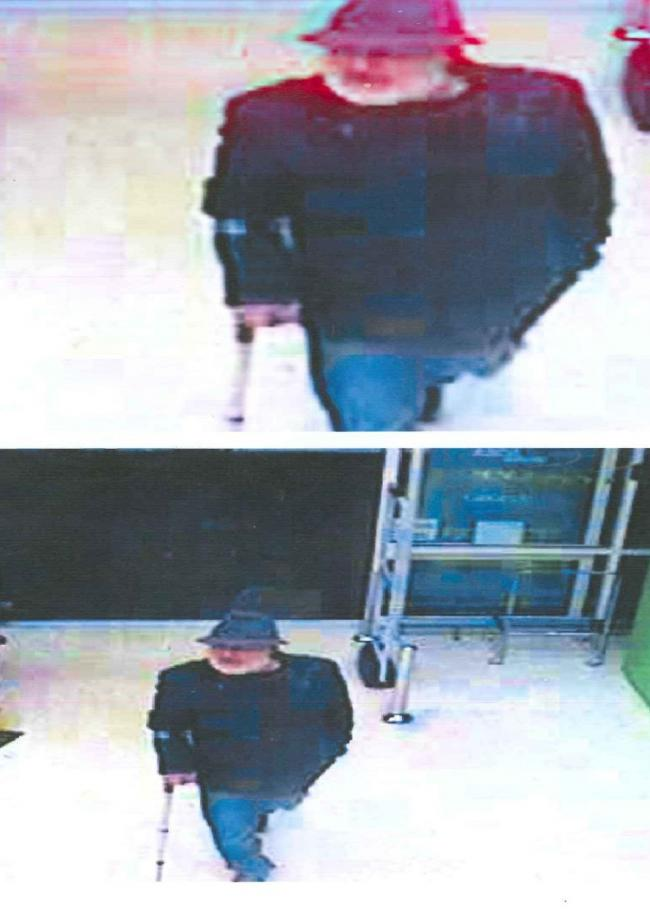 CCTV showing the man who is believed to have followed a woman and a teenager around Asda in Leigh
