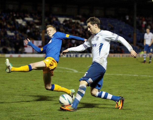 The Bolton News: Danny Mayor is available for Bury tonight after completing a three-match ban