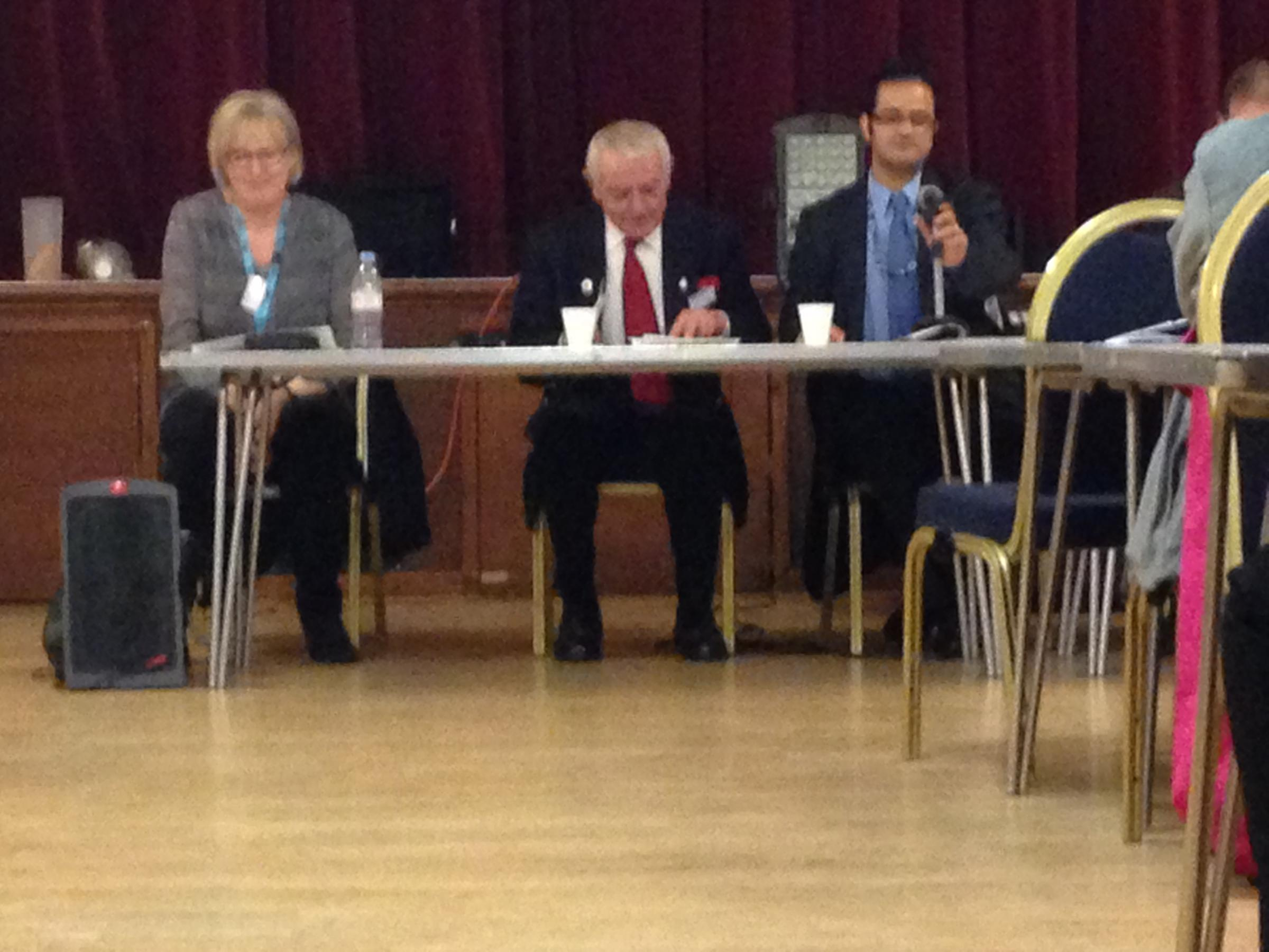 Meeting: (left to right) Jan Robinson, Cllr Noel Spencer and Cllr Asif Ibrahim