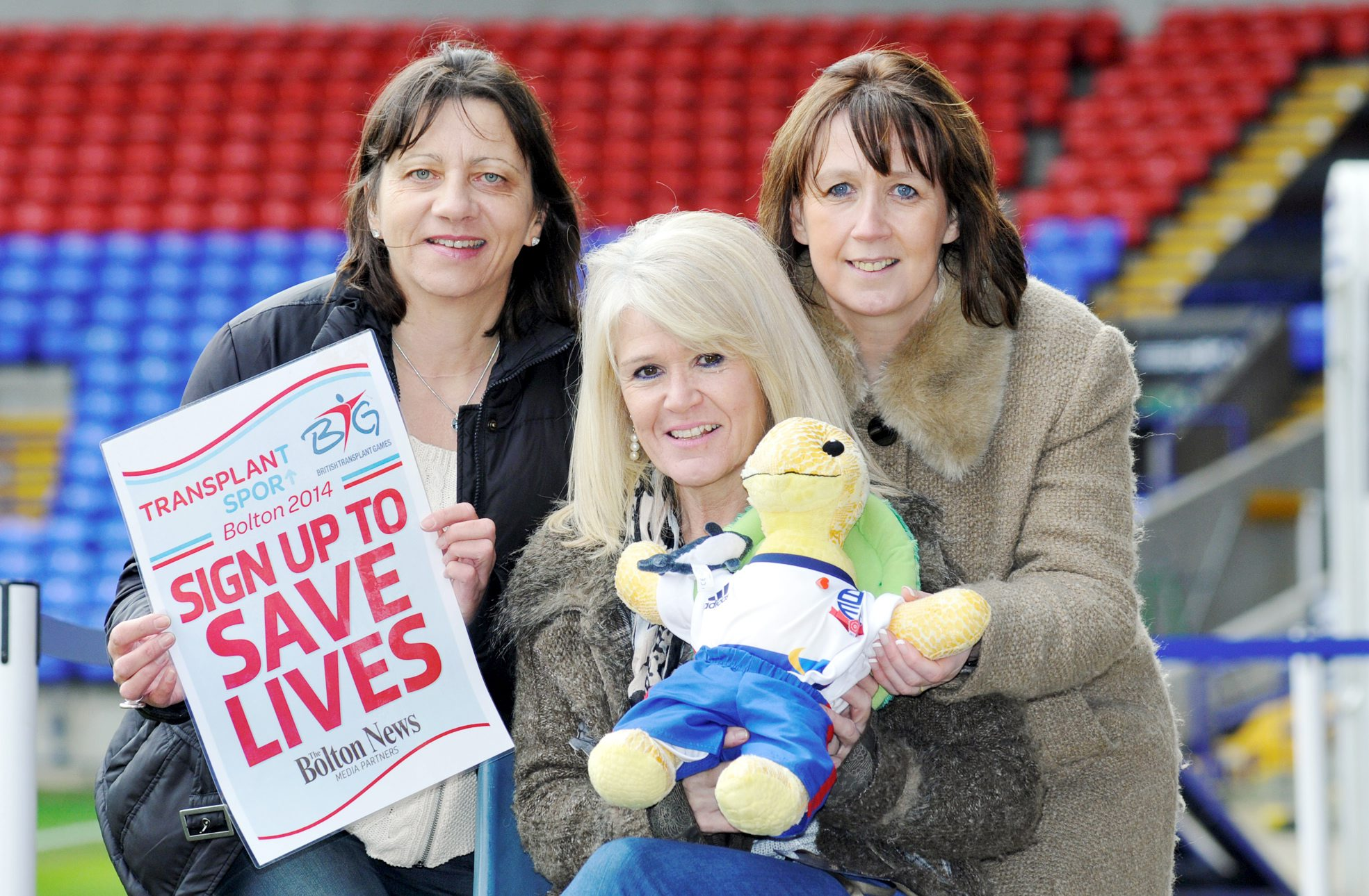 From left, Zoe Dixon, manager of Manchester Adults, Janice Taylor, team manager of Wythenshawe Adults and Denise Roberts, Manchester Children's Team manager