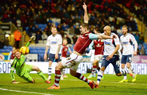 Sam Vokes scores the only goal of the game