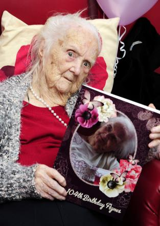 One of Bolton's oldest residents, Agnes Hagan, aged 104