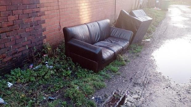 A flytipping hotspot in Radcliffe