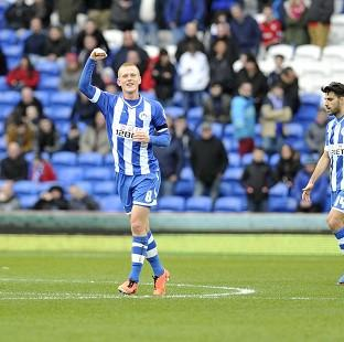 The Bolton News: Ben Watson, left, celebrates putting Wigan back in the lead