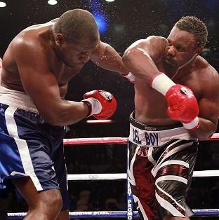 Dereck Chisora, right, outclassed Kevin Johnson at the Copper Box