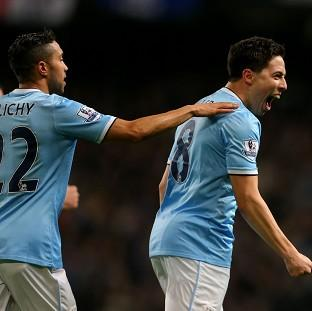 Samir Nasri, right, marked his return to f
