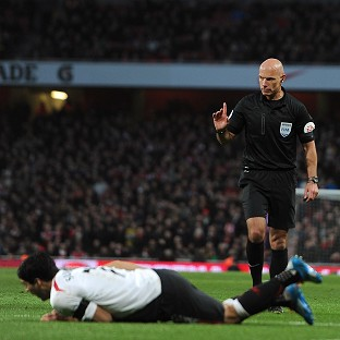 Howard Webb came under criticism for his handling of the FA Cup tie
