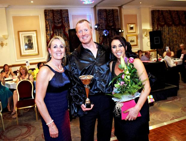 Winners of the 2013 competition John and Paula Hynes with, left, Marie Sandham from Sandham's Dance School