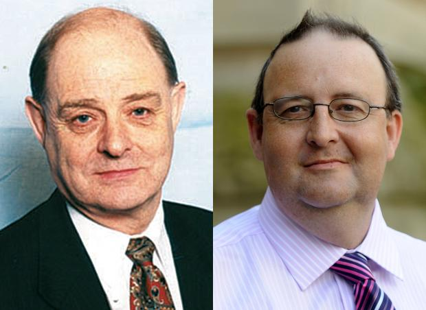 Cllr Roger Hayes, left, and Cllr David Greenhalgh