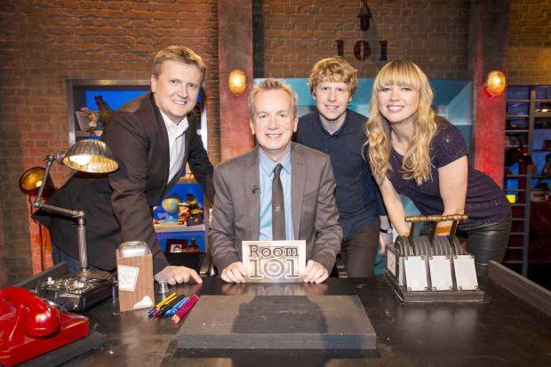 From left, Aled Jones, Frank Skinner, Josh Widdicombe and Sara Cox