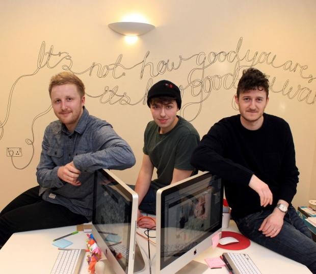 Designer and project manager Andy Golpys, designer and web developers Jason Mayo and Tom Pickering