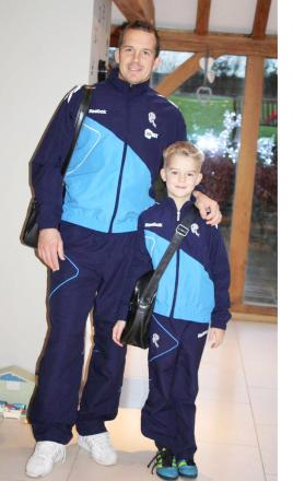 Kevin Davies and his son Lucas