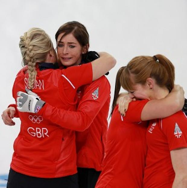 The Bolton News: Eve Muirhead, second left, is confident Britain's women's curlers can add to their Olympic medal haul