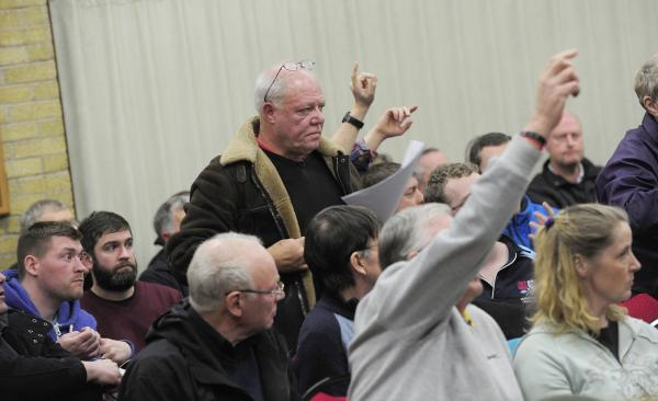 UPDATED: Tempers flare as scores turn up to fiery meeting on Horwich Loco Works plans