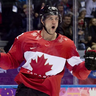 Jamie Benn celebrates his winning goal against the United States (AP)
