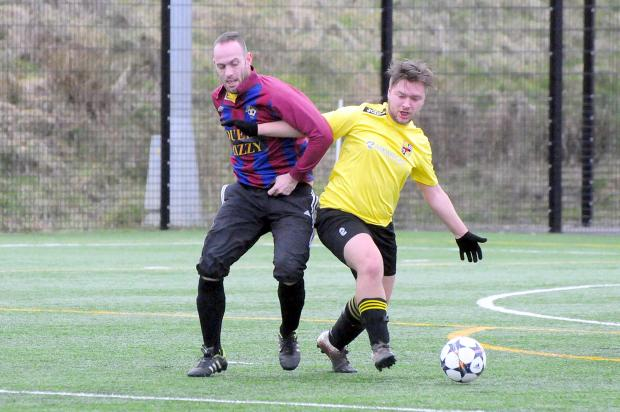 Action from the Division Two game between Queen Lizzy and Astley Bridge