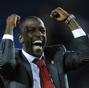 The Bolton News: Chris Powell celebrates the victory